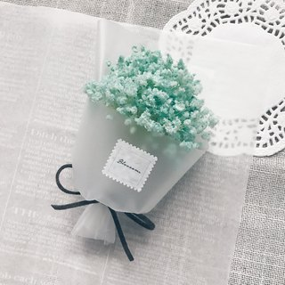 [Small flower pot | Mint soda*with small flower card*】 dry flowers. Not withered flowers. Small bouquet. Gypsophila