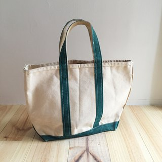 A ROOM MODEL - VINTAGE - LLBean Dark Green Tote / BD-0852