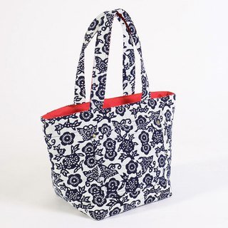 Hand Dyeing Series - Nantong blue calico stickers Totes