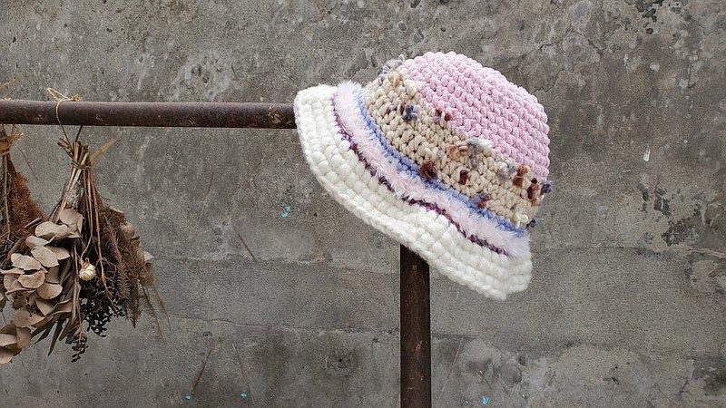 手編毛帽-混線系列 / 花椿