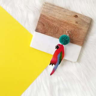 Parrot (red) earring