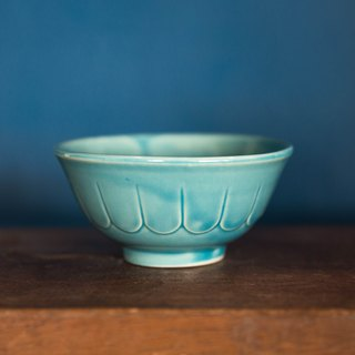 Constellation SECLUSION OF SAGE / lake blue painted small bowl