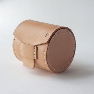 SEANCHY Leather lens case - Hand stitched genuine Italian veg tan Leather