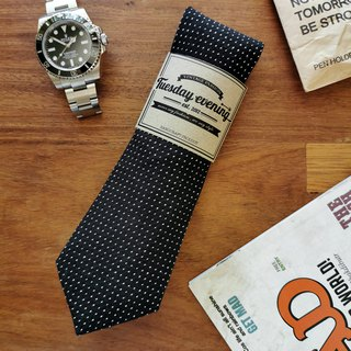 Neck Tie Black Polka Dot