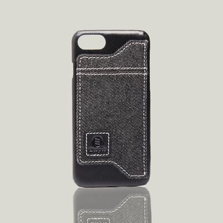 Manzanilla- iPhone 7 / iPhone 8 oil wax leather back cover - black