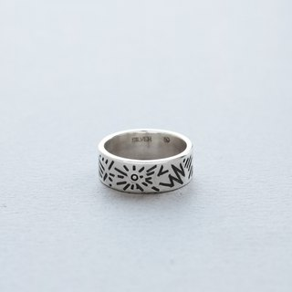 Doodle Silver Ring 001 - size 5JP