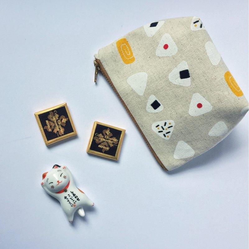 Onigiri Coin Purse, Cute Japanese Rice Ball Sushi Prints