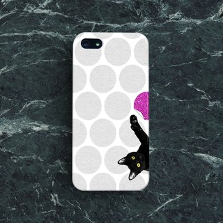 kitten on the play - Designer iPhone Case. Pattern iPhone Case.