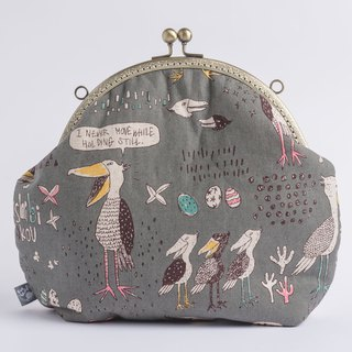 [Toucan Love Talking] Retro metal mouth gold bag # Portable # # Picturebook style # nostalgia vintage # # New Year's gift