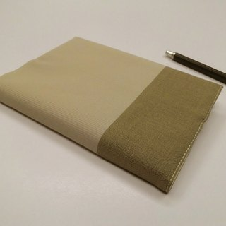 Exquisite A6 cloth book clothing ~ light khaki (single product) B04-028