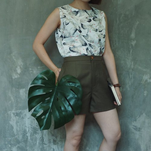 Basic shorts : Olive Green