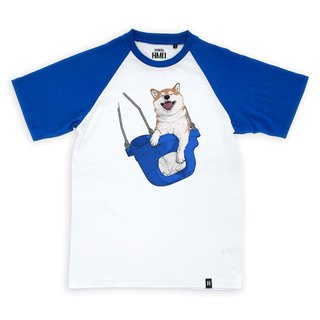 AMO®Original canned cotton T-shirt/AKE/The SHBA On The Blue Swing