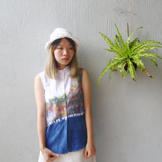Giants Tie Dye  / Handmade Cotton Sleeveless Shirt