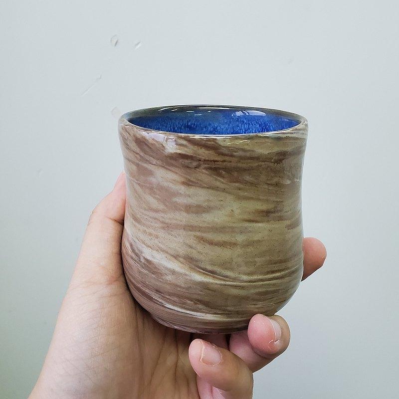 絞胎(練上手)陶藝日式茶杯 2