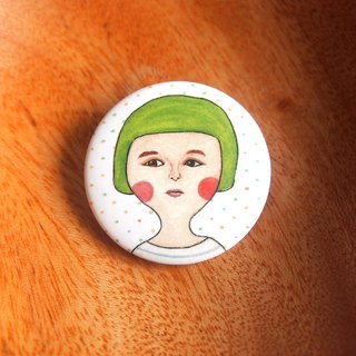Little badge - cute girl