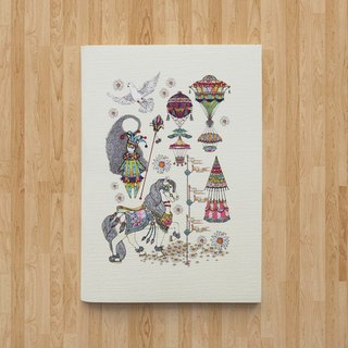 Notebook A6 - The Carnival (White)