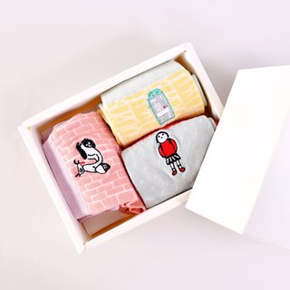 Picture book, painter, collaboration, item, memory, cotton socks, gift box set