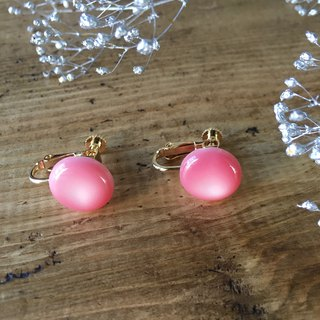 Soft marble color earrings (Pink)