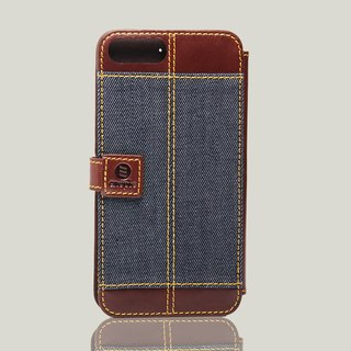Bronx - iPhone 7 Plus / iPhone 8 plus oil wax leather phone back cover - brown