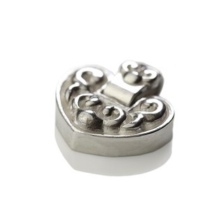 Silver ink NEROSILVER - FH-LLL15 longevity lock longevity [925] silver jewelry heart necklace Chinese wind / manual silver