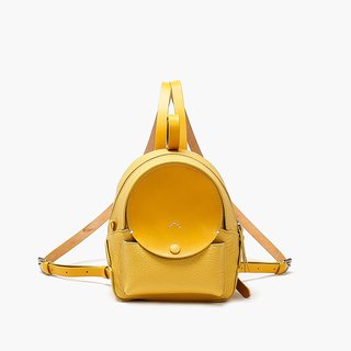 Bodhi says FOSTYLE vegetable tanned leather handmade leather new moon month shoulder bag college wind shoulder bag lemon yellow