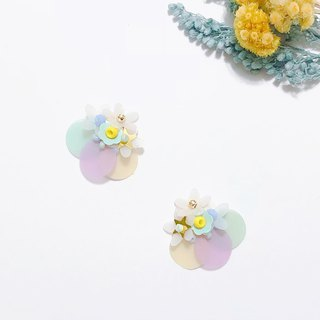 Perfume House Series - Star Flower Hand Sewing Sequins Limited Edition Ear Sweet Ears / Ear Clips