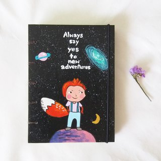 Fox & Galaxy. Notebook Handmadenotebook Diary 筆記本 journal
