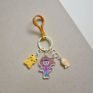 Milk tea color//original kastard squid broiled - fructose hand-made strap/key ring