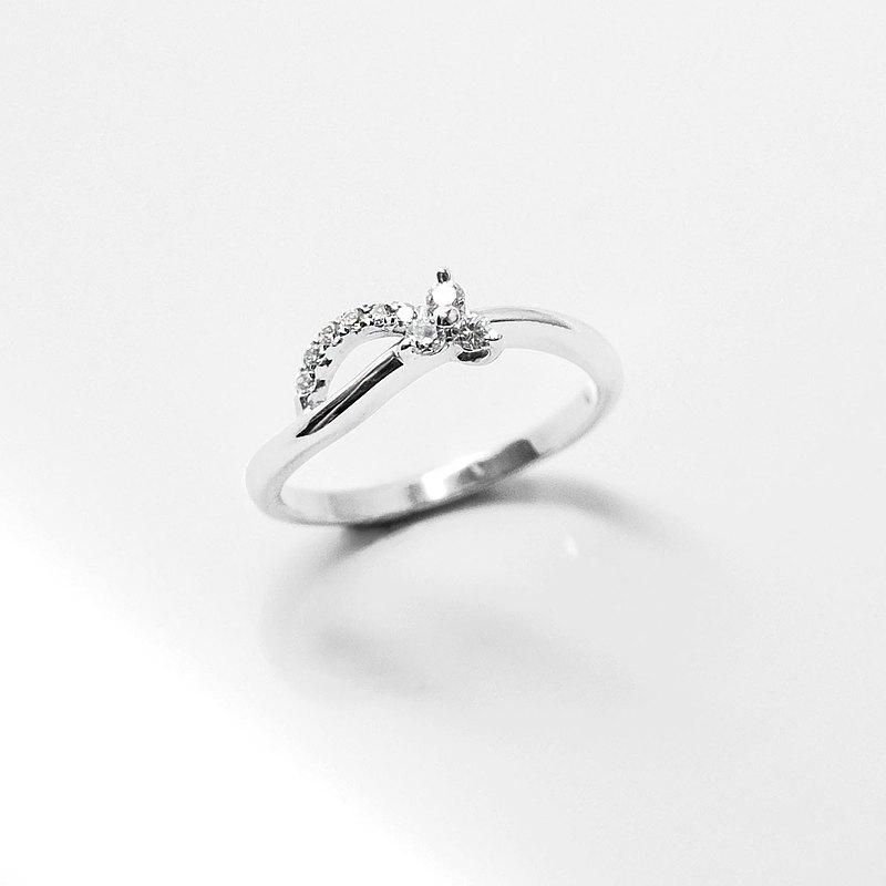 18K金鑽戒 750手工製作 天然鑽石 優雅-幸運系列-悅
