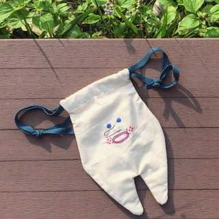 Sucdulone / Hand Embroidery Tooth Pouch Purse Bag (MEDIUM)