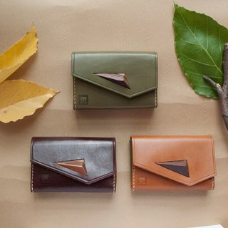 Leather Card Holder  (Triangle made by leather)