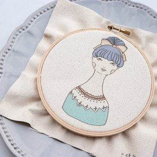 Blanche Blanche Illustration Embroidery Kit
