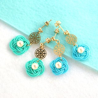 japanese traditional style pierce earring / mizuhiki / japan / accessory