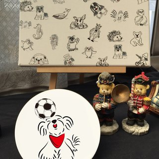 Q Family Original Ceramic Drinking Coaster - Maltese - World Cup Soccer Special