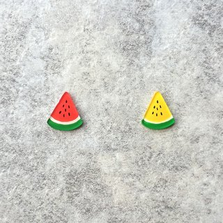✦Pista hill hand painted earrings ✦ fruit - watermelon