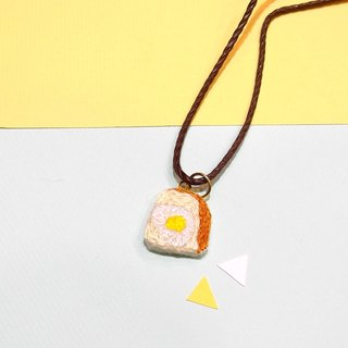 Department of food embroidery eggs toast necklace necklace hand embroidery
