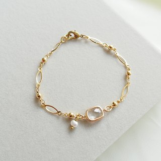 Swing pearl series of fine-plated zircon bracelet - through the white