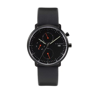 Minimal Watches : MONOCHROME CLASSIC - Limited edition/Leather (Black)