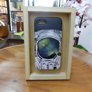 "3D Protective Bumper Case climax ""astronaut Tales / eyes under the vastness of the universe"" / gentle touch han scratch Phone Case [Customizable aircraft models: iPhone Full Model / Series NOTE.S Samsung / LG]"