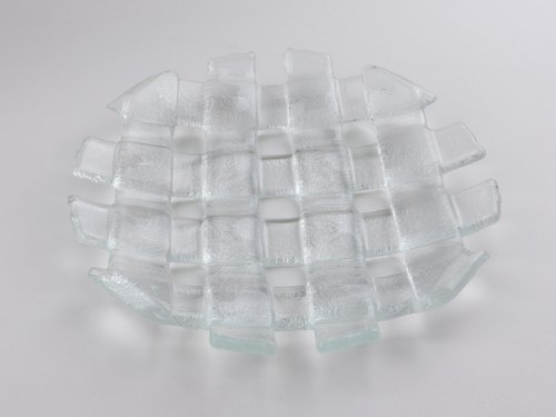 Icon braided glass plate round 20cm-95023