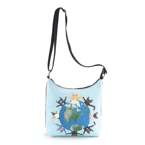 Ashely M - All Around the Earth Kitties Messenger Bag