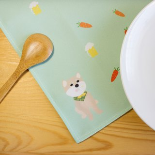 Chai will prevent watering placemats cutlery group (Shiba Inu) (placemat) (tableware)