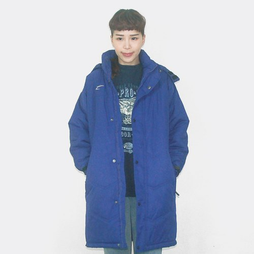 Capsrok retro sports blue jacket blue vintage cold coat BE3002