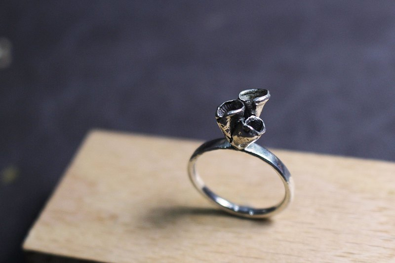 Sea otter 925 silver ring
