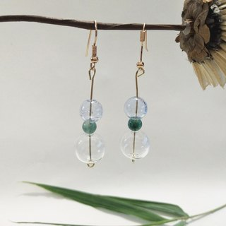 Transparent Planet Bubble Earrings