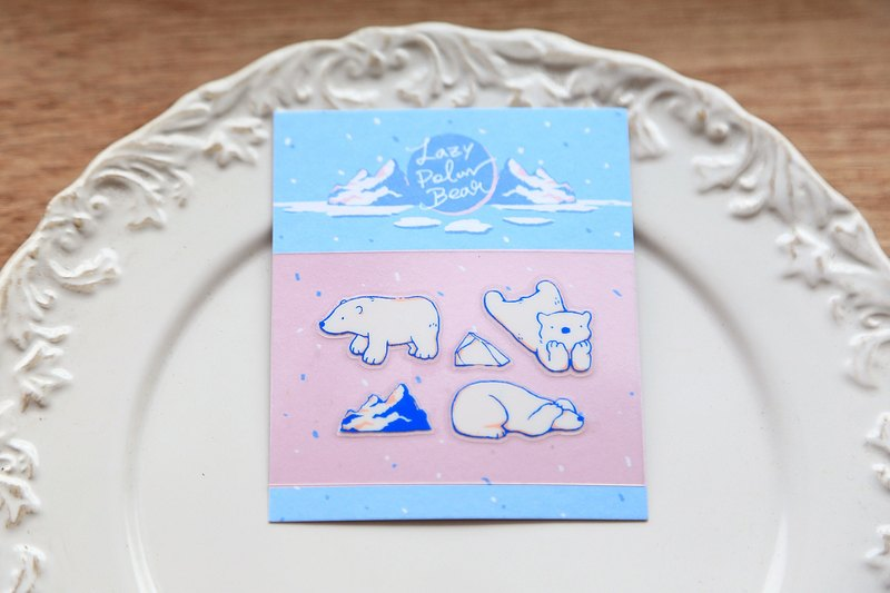 OURS Makie Sticker - Lazy Polar Bear #2