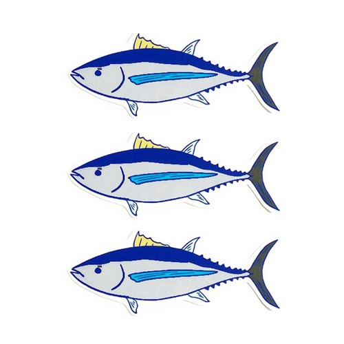 1212 design fun funny stickers waterproof stickers everywhere - Mr. tuna fish