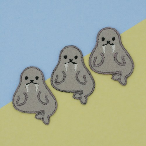 Mini Walrus Iron Patch