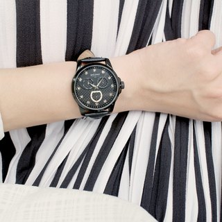 【PICONO】Bulky Black with Black dial watch / BK-4003