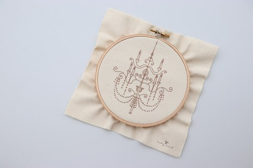Inlaid mile crystal chandelier illustration embroidery material package